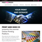 $50 off When You Spend over $100 on Any Product @ Print and Sign Co