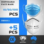 50 3 Ply Disposable Masks + 5x KN95 Masks $6.99 Delivered @ Outbax eBay