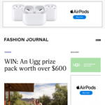 Win an UGG Prize Pack Worth $619 from Fashion Journal