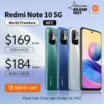"Xiaomi Redmi Note 10 5G, 6.5"", 4GB + 64GB US$174.90 (~A$226), 10S US$199.10 (~A$257) Delivered @ Hong Kong Goldway AliExpress"
