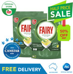 Fairy Original All in One Lemon Dishwasher Tablets 128 Pack (2x 64pk) $28.56 Delivered @ Procter and Gamble eBay