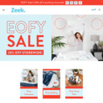 20% off Sitewide (Mattresses, Pillows, Bedding & Bean Bags) & Free Delivery @ Zeek