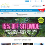 15% off Everything Including Sale Items + $9.95 Delivery ($0 with $99 Order) @ Cycle Station Online