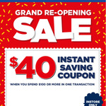 [VIC, SA] $40 off $100 Spend @ Spotlight (in-Store Only)