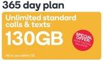 Kogan Prepaid Mobile 365 Days FLEX Unlimited Calls/SMS/MMS - 130GB $140 / 230GB $190 /300GB $240 / 550GB $300
