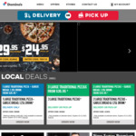 [VIC, TAS] 3 Traditional Pizzas $27 Delivered, 2 Sides for $6 Delivered @ Domino's Pizza