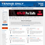 40% off All Wilson ProStaff Racquets and 30% off All ON Sneakers + Delivery (Free Delivery with $150 Spend) @ Tennis Only