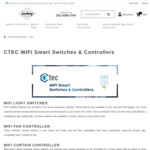 10% off Ctec Smart Wi-Fi Switches / Mirror LCD Switches & Dimmers + Delivery ($0 with $99 Spend) @ Lectory