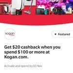 CommBank Rewards: Get $20 Cash Back When You Spend $100 or More @Kogan
