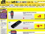 JB Hi-Fi USB Flash Drives - 8GB for $7,  4GB $5.50