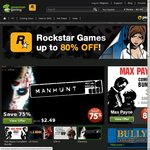 Rockstar Games up to 80% off at Green Man Gaming, eg, Max Payne Complete US $14.40 (Save 94%)