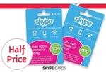 50% off Skype Cards at BigW Starts 21/11