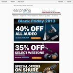Earphone Solutions Black Friday Sale: 40% off Audeo, 35% off Westone (Westone 3's $251 Shipped)