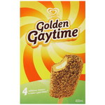 GOLDEN GAYTIME 4 Pack 400ml $5 (Save $2.51) @ Coles Starts 12th March