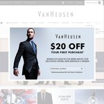 $50 off $150 Only on VanHeusen.com.au