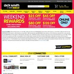 $25 off with $99 Spend or More Site Wide at Dick Smith Online