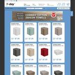 1-Day - 6 Pk Face Cloths $7.99, 4-Pk Hand Towels $8.99, 2 Pk Bath Mats $7.99 + $6.99 Shipping