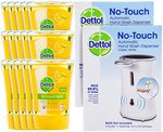 Dettol No Touch Hand Wash - 15 Refills and 2 Dispensers $29+Postage COTD