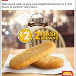 Hungry Jack's Hash Browns 2 for $2 (Save $1.70)