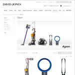Save 20% on Dyson at David Jones Inc. New V6 Range - TODAY ONLY Plus Free Next Day Delivery
