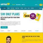 Optus $60 Sim Only Plan Now $50 with 8GB Data Umlimited Calls and Sms Plus 300 International Min