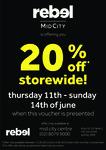 20% off Store Wide @ Rebel Sport Mid City Sydney