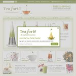 Tea Forte - up to 50% off Site Wide Plus a Further 10% off with Code - Free Shipping over $50