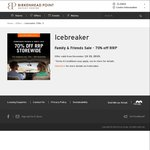 Icebreaker 70% off Friends and Family Sale - NSW + AMEX shop small