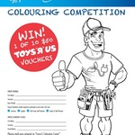 Win 1 of 10 $50 TOYS R US Gift Cards - Colouring Competition