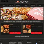 3 Large Pizzas + 3 Selected Sides $35 Delivered @ Pizza Hut