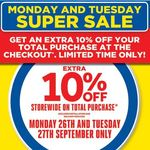 EXTRA 10% off at Masters (26th-27th September)