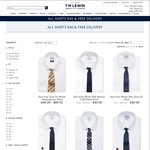 TM Lewin: All Shirts $40 + Free Shipping