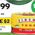 ½ Price Sirena Tuna 185g $1.99 @ Woolworths (Starts 23/11)