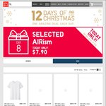 UNIQLO 12 Days of Xmas, Day 8 (08/12) - Selected Airism Tees - All $7.90
