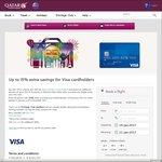 Qatar Airways - Up to 15% off Flights Using Visa Card