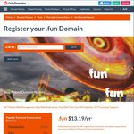 .Fun Domain Name for $9.99 USD (~$13 AUD, 1st Year Registration) @ Only Domains