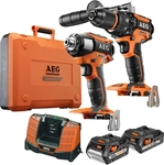 AEG 18V Brushless 2 Piece Combo Kit $399 down from $629 at Bunnings
