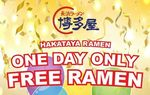 [QLD] Free Ramen, 26/9 @ Hakataya Ramen [Queen St Mall, Brisbane Grand Opening]