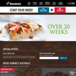 Domino's Pizza - Value Range $2, Traditional Range $4 and Premium Range $6 Pickup (2PM - 4PM - Selected Stores)