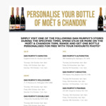 Free Personalised Label When Purchasing Moet Chandon from Dan Murphy's