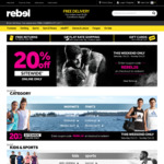 20% off Sitewide @ Rebel (Sat 21/10 & Sun 22/10 - Online Only)