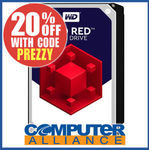 WD 4TB Red WD40EFRX NAS Drive $159.20 @ Computer Alliance eBay