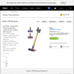 Dyson V8 Absolute $749.00 (was $899.00) @ Dyson