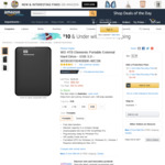 WD 4TB Elements Portable External Hard Drive USB 3.0 - $106.17 USD (~ $135.36 AUD) Delivered @ Amazon US