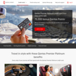 Qantas Premier Platinum Credit Card with 75,000 FF Points Sign up Bonus - Reduced First Year Annual Fee of $149