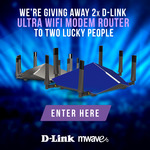 Win 1 of 2 D-Link Ultra Wi-Fi Modem Routers (Cobra $649/Taipan $499) from Mwave