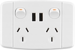 Arlec White Double Powerpoint with USB Charger $12.45 @ Bunnings