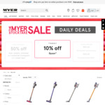 10% off Dyson Products (e.g. Supersonic $449, Cyclone V10 Absolute+ $899, Cyclone V10 Animal $728) @ Myer
