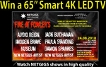 """Win a 65"""" 4K Smart LCD TV and a Chromecast to Watch Netgigs worth $1,000 from Netgigs"""