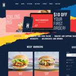 [VIC/WA] $10 off First Online Pick up Order @ Huxtaburger ($20 Minimum Spend)